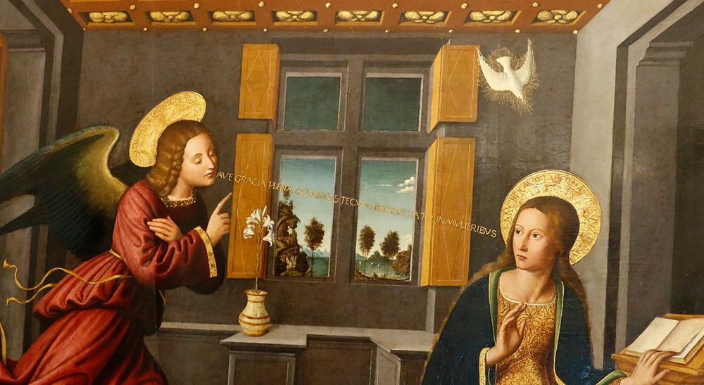 Restauration et Conservation peinture sur bois « l'Annonciation » de Ludovic Bréa  vers 1515